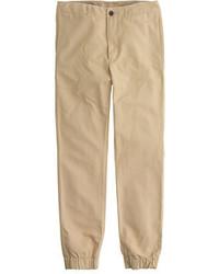 Pantalón de chándal marrón claro de J.Crew
