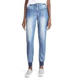 Pantalón de chándal vaquero azul