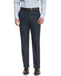 Pantalon de costume bleu marine Brioni