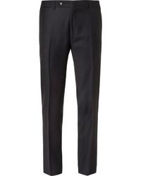 Pantalon de costume en laine bleu marine Canali