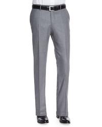 Pantalon de costume en laine gris Incotex