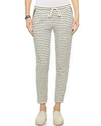 Pantalon de jogging à rayures horizontales blanc et noir Splendid
