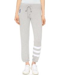 Pantalon de jogging à rayures horizontales gris Sundry