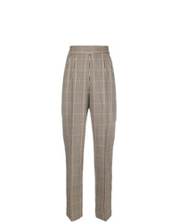 Pantalón de pinzas a cuadros gris de Moschino Vintage