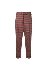 Pantalón de pinzas a cuadros marrón de Brag-Wette