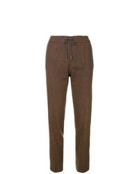 Pantalón de pinzas a cuadros marrón de Fabiana Filippi