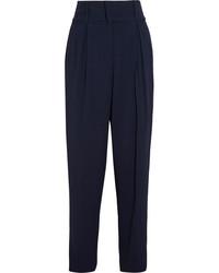 Pantalón de pinzas azul marino de Fendi