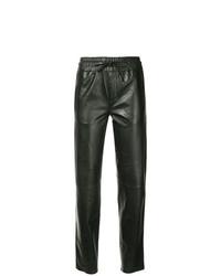 Pantalón de pinzas de cuero negro de Sylvie Schimmel