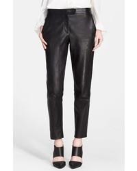 Pantalón de pinzas de cuero negro de Tamara Mellon