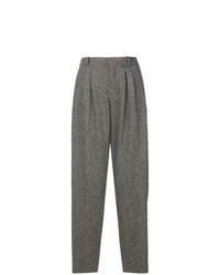 Pantalón de pinzas de espiguilla gris de Chloé