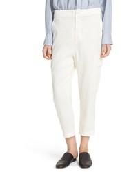 Pantalón de Pinzas de Lino Blanco de Vince