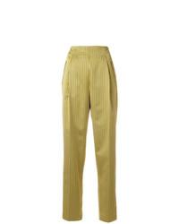 Pantalón de pinzas de rayas verticales amarillo de Etro