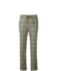 Pantalón de pinzas de tartán verde oliva de P.A.R.O.S.H.