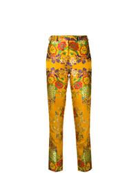 Pantalón de pinzas estampado amarillo de Etro