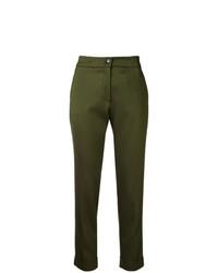 Pantalón de pinzas estampado verde oliva de Etro