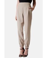 Pantalón de pinzas marrón claro de Topshop
