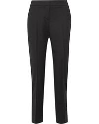 Pantalón de pinzas negro de Oscar de la Renta