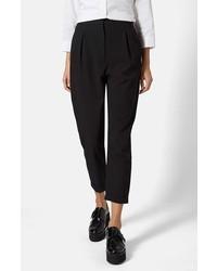 Pantalón de pinzas negro de Topshop