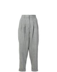 Pantalón de pinzas plisado gris de MM6 MAISON MARGIELA