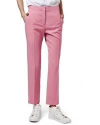 Pantalón de pinzas rosa de Topshop