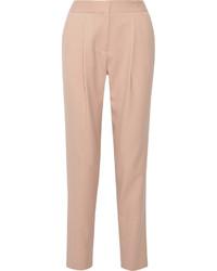 Pantalón de pinzas rosado