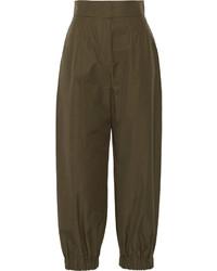 Pantalón de pinzas verde oliva de Fendi