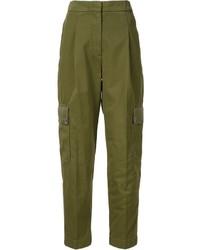 Pantalón de pinzas verde oliva de Givenchy