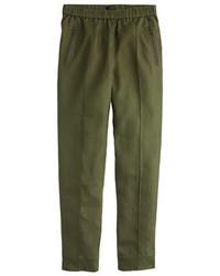 Pantalón de pinzas verde oliva de J.Crew