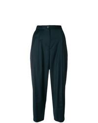 Pantalón de pinzas verde oscuro
