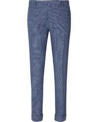 Pantalón de vestir a cuadros azul