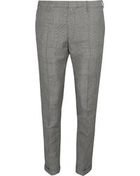 Pantalón de vestir a cuadros gris