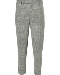 Pantalón de vestir a cuadros gris de Lardini