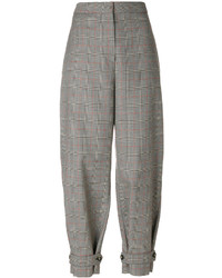 Pantalón de vestir a cuadros marrón de Stella McCartney