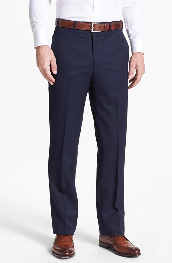 19c4e0123 ... Pantalón de vestir azul marino de JB Britches ...