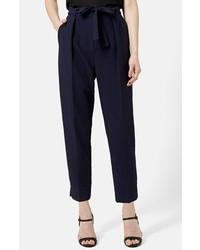 Comprar un pantalón de vestir azul marino Topshop  196b76add9a1