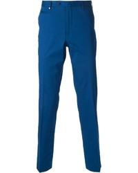 Pantalón de vestir azul de Corneliani