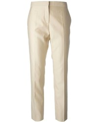 Pantalón de Vestir Beige de Salvatore Ferragamo