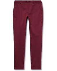 Pantalón de vestir burdeos de Gucci