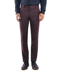 Pantalón de vestir burdeos de Topman