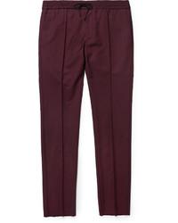 Pantalón de vestir burdeos de Valentino