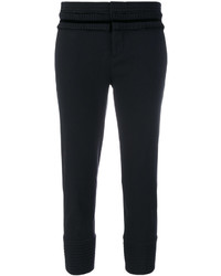 Pantalón de vestir con volante negro de Dsquared2