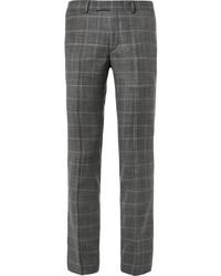 Pantalón de vestir de lana a cuadros gris de Sandro