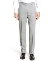 Pantalón de vestir de lana a cuadros gris de Santorelli