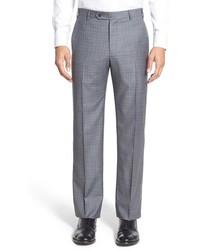 Pantalón de vestir de lana a cuadros gris de Zanella