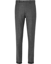 Pantalón de vestir de lana a cuadros negro de Maison Margiela