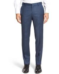 Pantalón de vestir de lana azul marino de BOSS