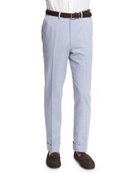 Pantalón de vestir de lana celeste de Brioni
