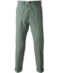 Pantalón de vestir de lana de espiguilla gris de (+) People