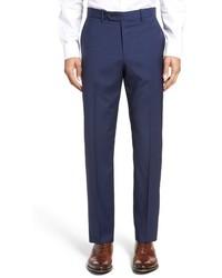 Pantalón de vestir de lana de pata de gallo azul marino