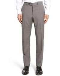 Pantalón de vestir de lana de pata de gallo gris